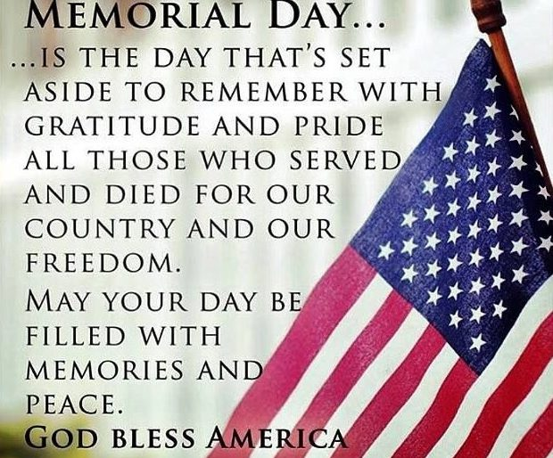 Permalink to: Have A Happy and Safe Memorial Day